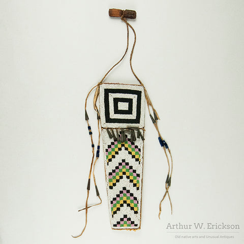 Plains Cree Beaded Knife Sheath