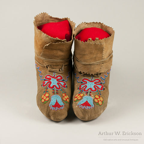 Eastern Plateau Partially Beaded High TopMoccasins
