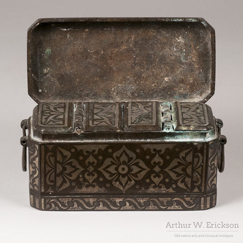 Philippines Silver Inlay Betel Nut Box