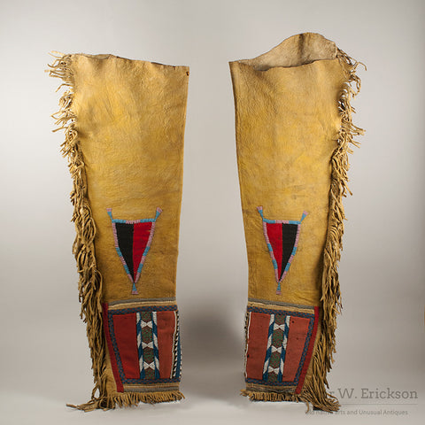 Blackfoot Panel Leggings c. 1870 - Arthur W. Erickson - 1