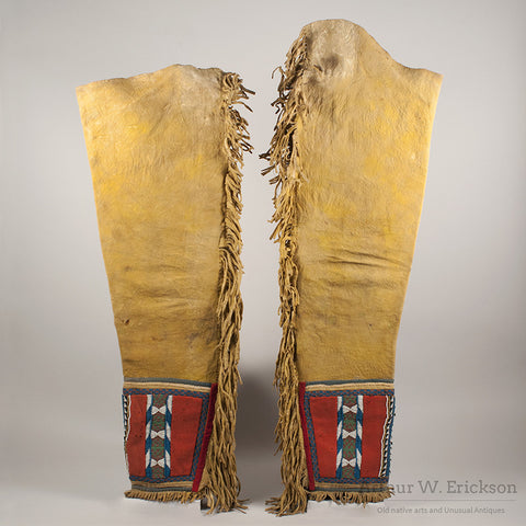 Blackfoot Panel Leggings c. 1870 - Arthur W. Erickson - 2