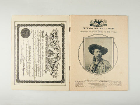 1893 Buffalo Bill Wild West Program