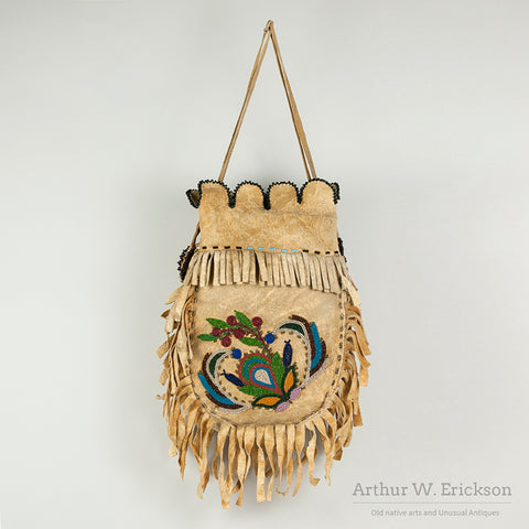 Canadian Metis Double Sided Beaded Bag