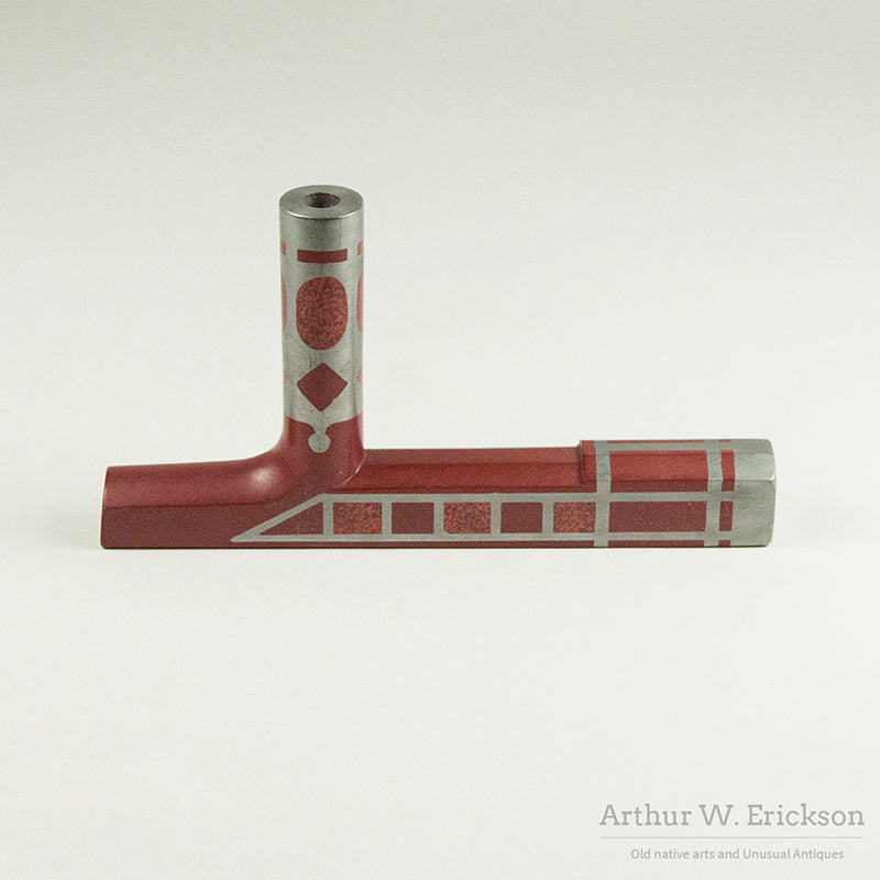 "Catlinite Pipe by Myron ""Chaska"" Taylor"