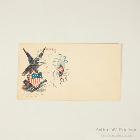 Civil War Letter and Graphic Envelope 1865