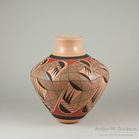 Hopi Polychrome Jar by Clinton Polacca Nampeyo