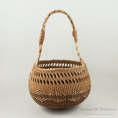 Large Siletz Basket with a Double Handle
