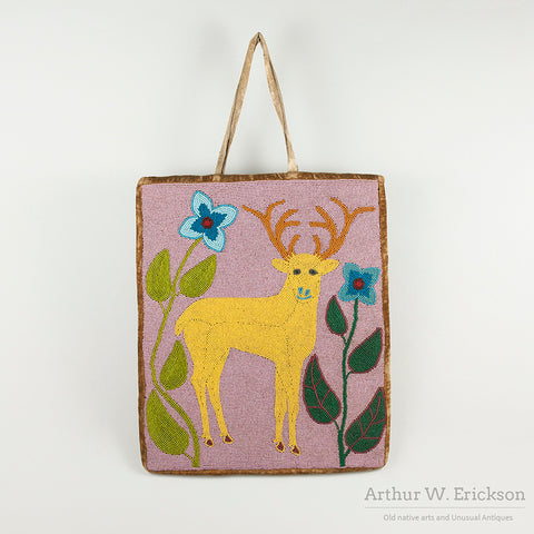 Folksy Plateau Beaded Elk Bag