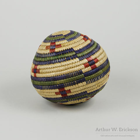 Eskimo Basketry Ball with Rattle