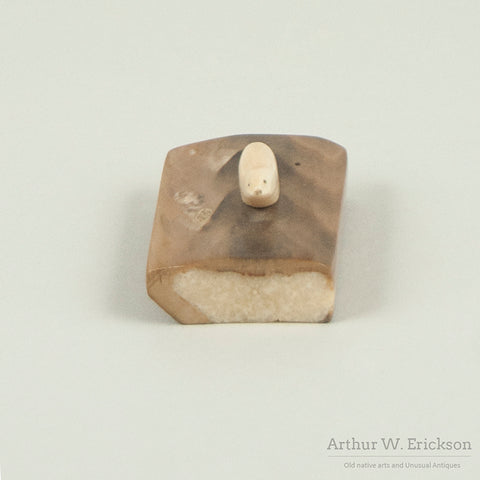 Tiny Ivory Seal on a Fossilized Ivory Base