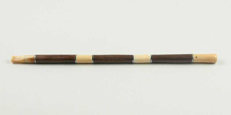 Elegant Fossilized Walrus Ivory and Wood Cigarette Holder
