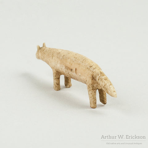 Eskimo Ivory Carving of Fox