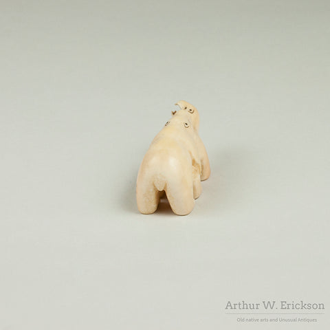 Eskimo Carved Bears in Love