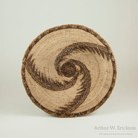 Finely Woven Klamath Basketry Plaque
