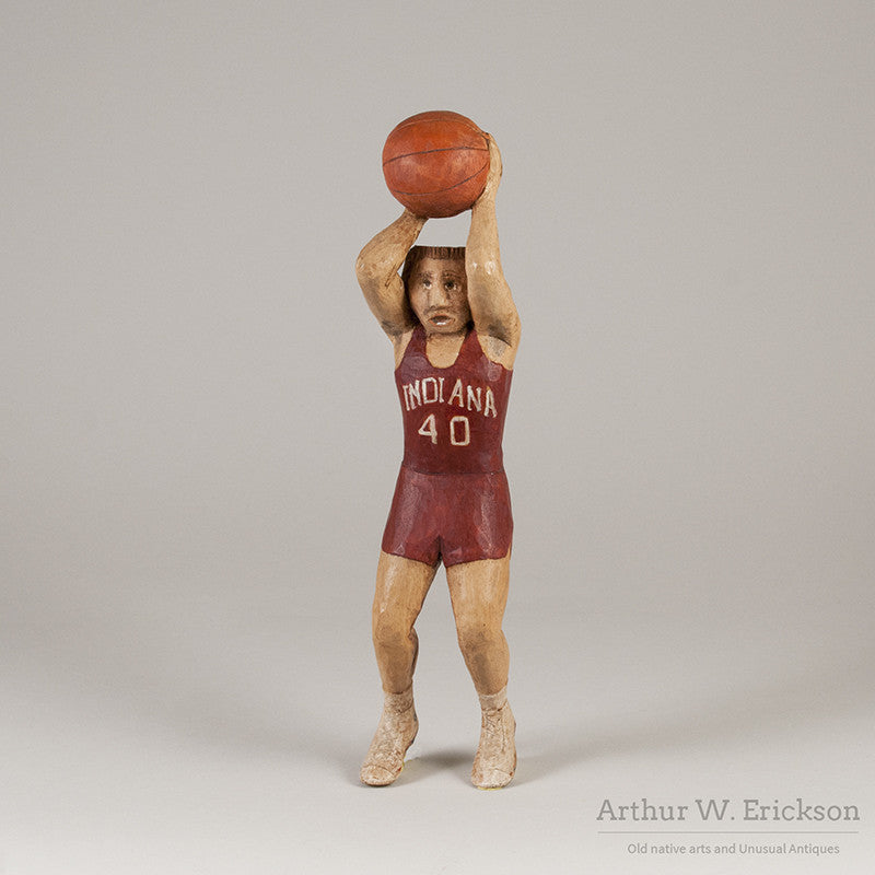 Folk Art Carved Basketball Player - Arthur W. Erickson - 1