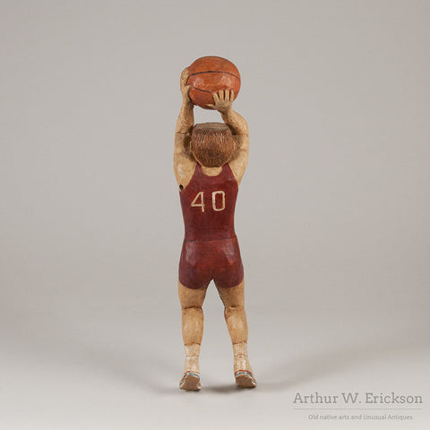 Folk Art Carved Basketball Player - Arthur W. Erickson - 4