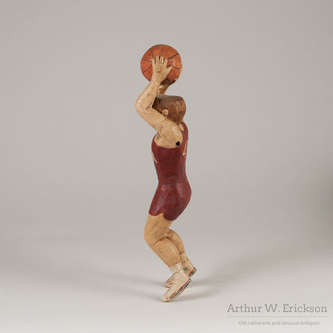Folk Art Carved Basketball Player - Arthur W. Erickson - 5