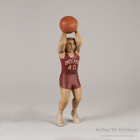 Folk Art Carved Basketball Player - Arthur W. Erickson - 2