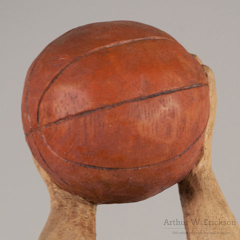 Folk Art Carved Basketball Player - Arthur W. Erickson - 6