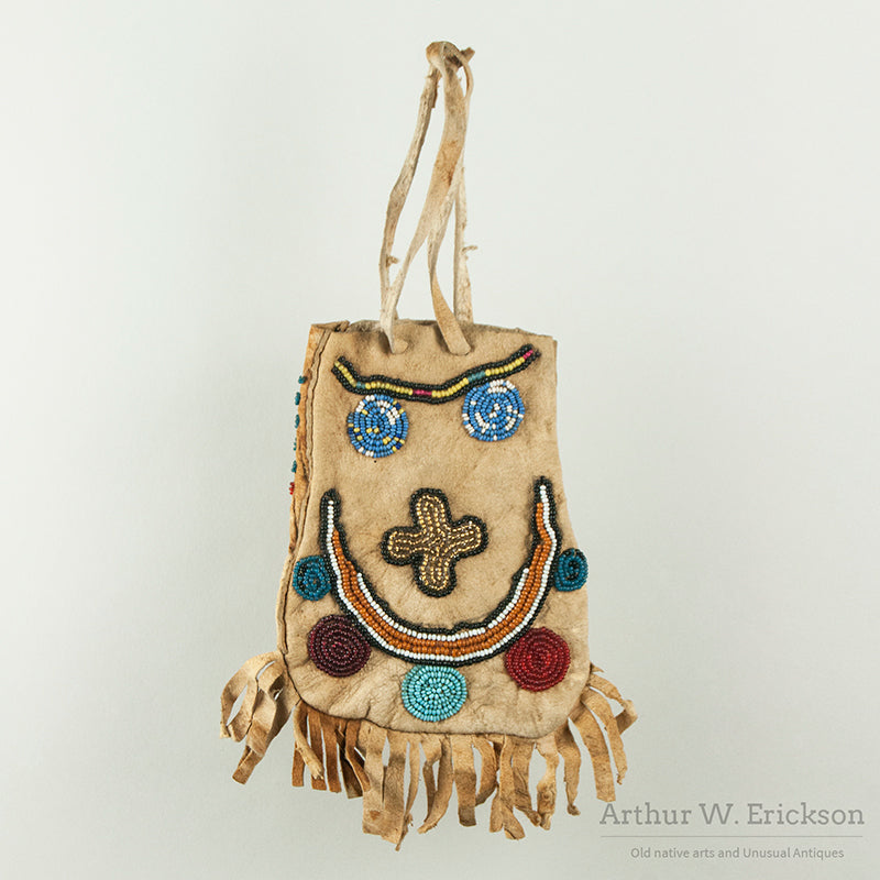 Folky Plateau Beaded Bag with Fringe
