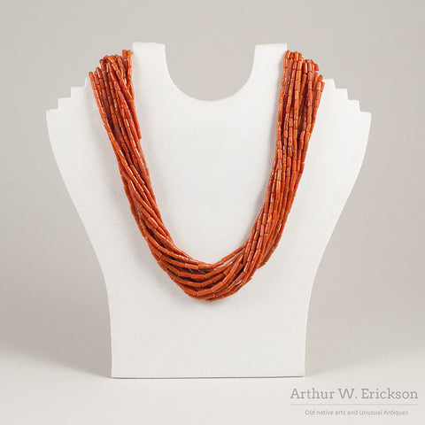 14 Strand Coral Bead Necklace