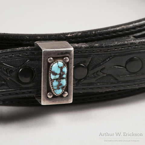 Frank Patania Sr. Sterling Silver and Turquoise Belt Buckle - Arthur W. Erickson - 6