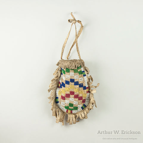 "Sioux ""U"" Shaped Beaded Bag"
