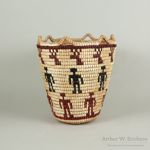 Fully Imbricated Klickitat Figural Huckleberry Basket