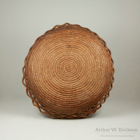 Fully Imbricated Puget Sound Basketry Tray