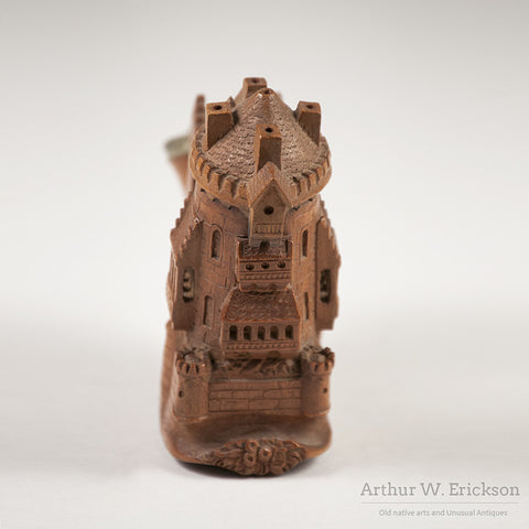 German Wood Carved Castle Pipe - Arthur W. Erickson - 7