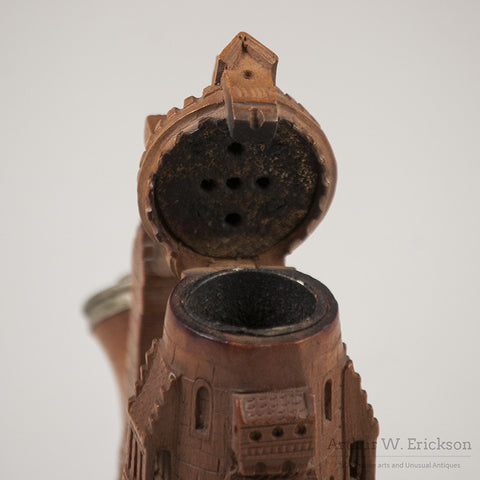 German Wood Carved Castle Pipe - Arthur W. Erickson - 8