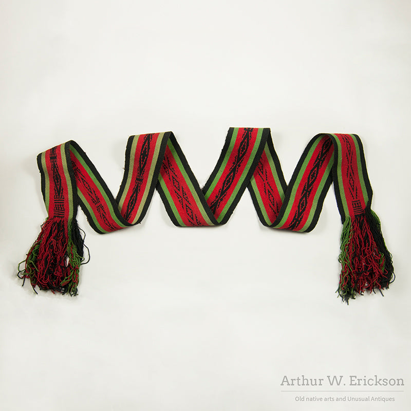 Early 20th C Hopi Woven Belt
