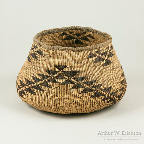 Old Pit River Basket with Fabric Rim