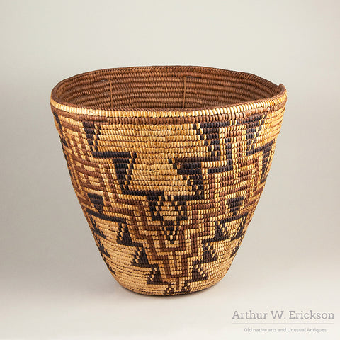 Large Beautiful Cowlitz Polychrome Basket