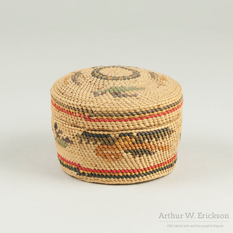 Nun-Cha-nulth (Nootka) Lidded Basket