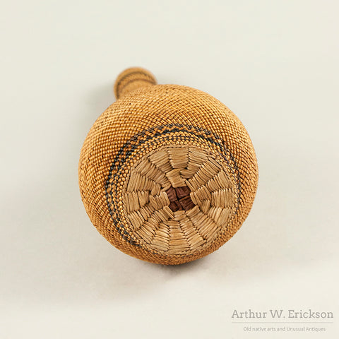Makah Lidded Basketry covered Bottle