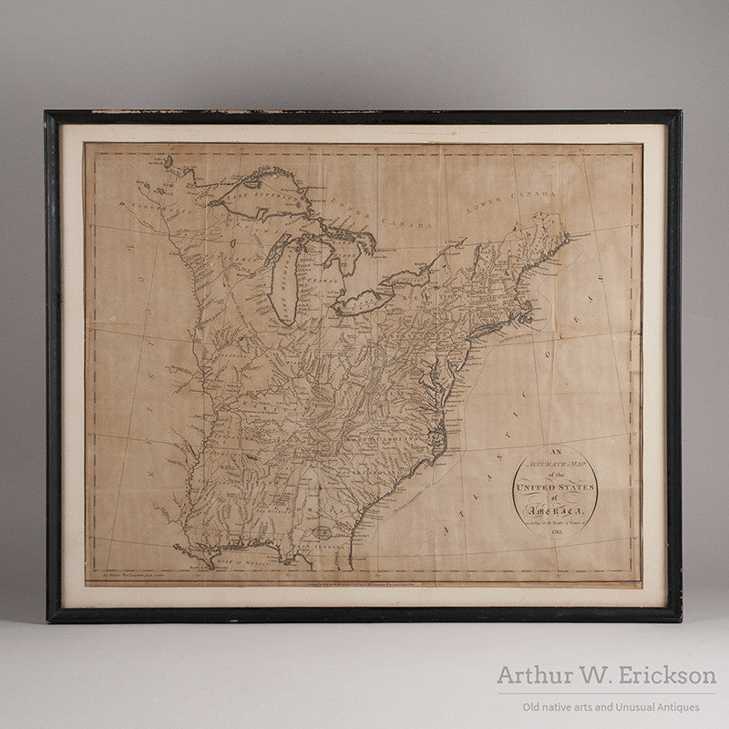Map of United States of Americas According to the Treaty of Peace of 1783 - Arthur W. Erickson - 1
