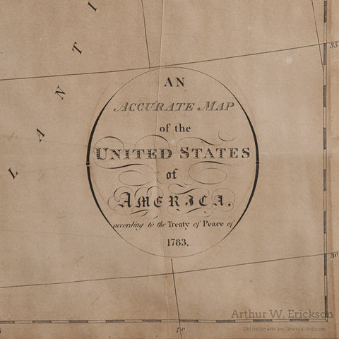 Map of United States of Americas According to the Treaty of Peace of 1783 - Arthur W. Erickson - 4