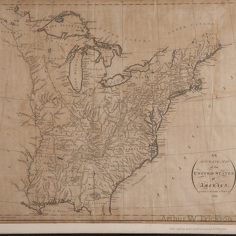 Map of United States of Americas According to the Treaty of Peace of 1783 - Arthur W. Erickson - 3