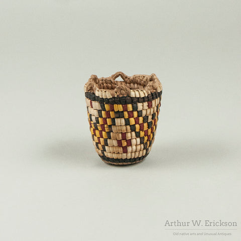 Miniature Fully Imbricated Klickitat Basket