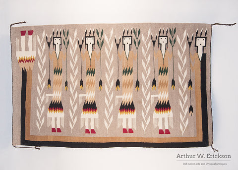 Navajo Five Figure Yei Rug