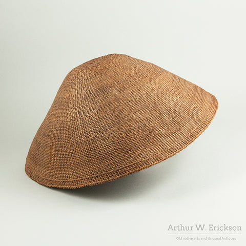 Nootka (Nuu-chah-nulth) Basketry Rain Hat
