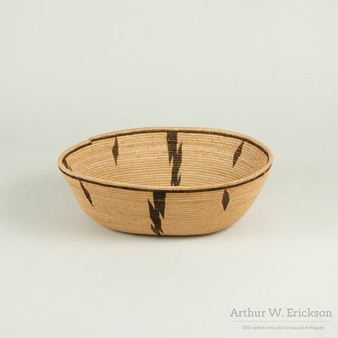 Exceptionally Finely Woven Panamint Basket
