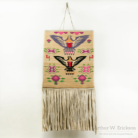 Pictorial Plateau Cornhusk Bag with Eagles