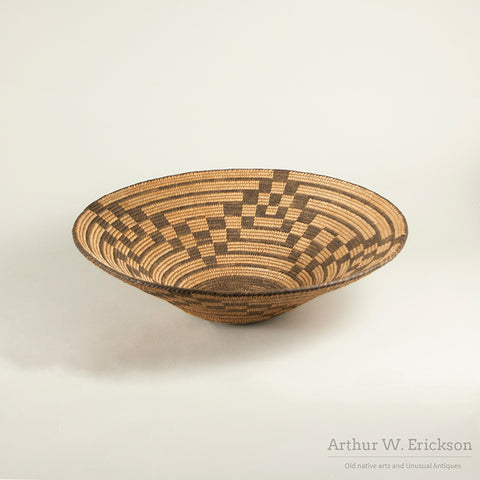 Pima Basket with Checkered Motif