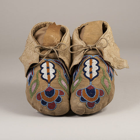 Cayuse Beaded Moccasins