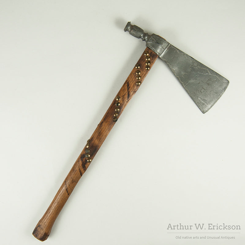 19th C Plains Dance Pewter Tomahawk with Provenance