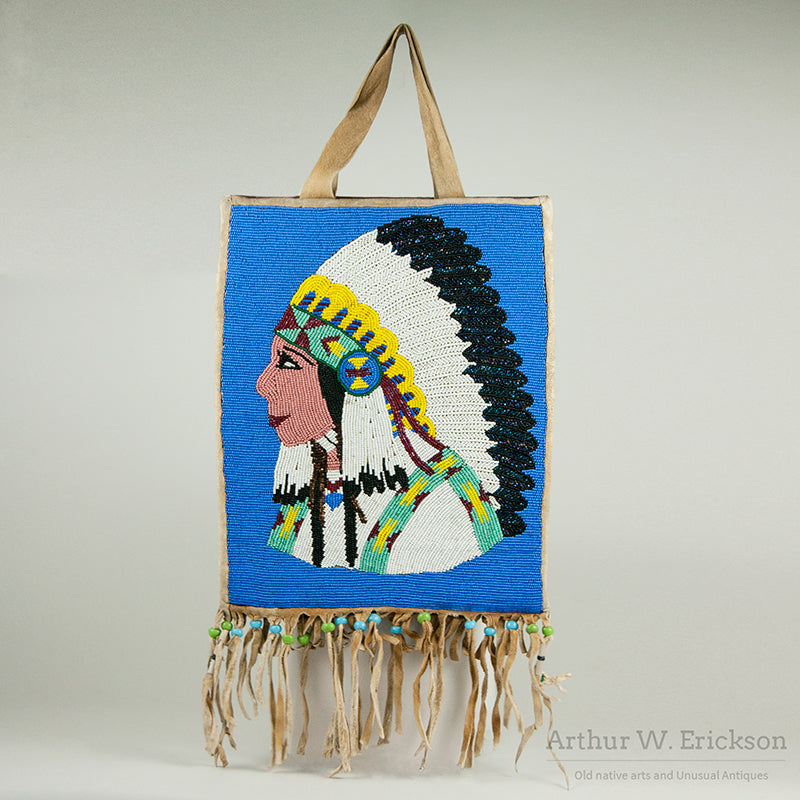 Plateau Pictorial Bag with Indian Chief