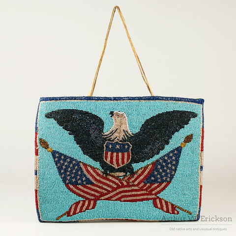 Plateau Patriotic Beaded Bag from Toppenish