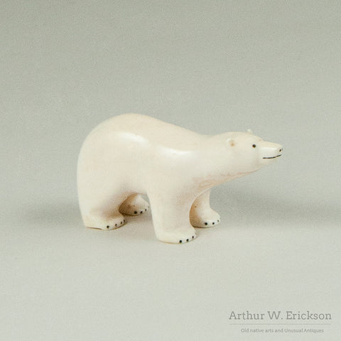 Polar Bear Carving from King Island